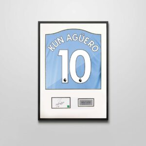 authentically signed sergio aguero autograph