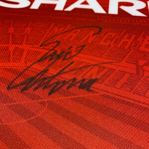 cantona 1996 signed shirt up-close