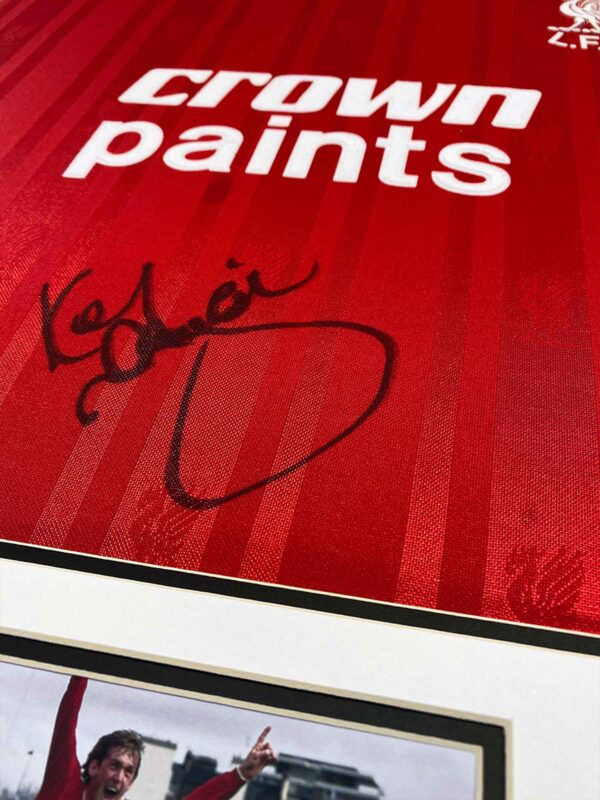 dalglish 1982 signed shirt up close
