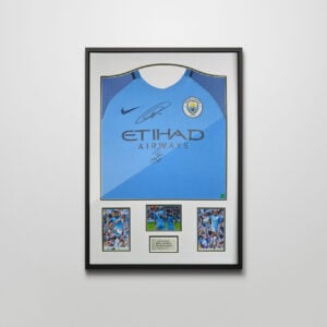 Authentically Signed Aguero and Kompany Shirt