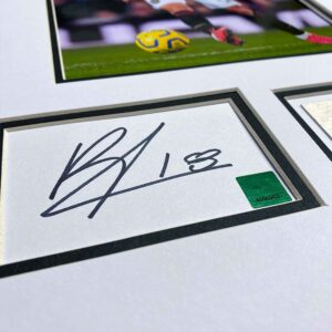 personally signed bruno fernandes autograph up close