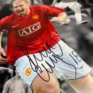 personally signed paul scholes autograph up close