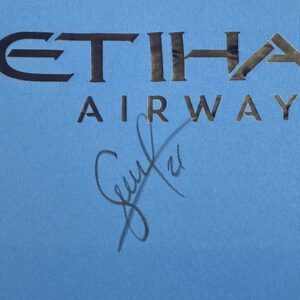 david silva signed shirt up close