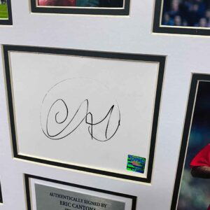 authentically signed eric cantona autograph up close