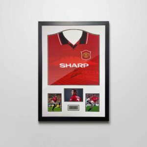 authentically signed eric cantona shirt