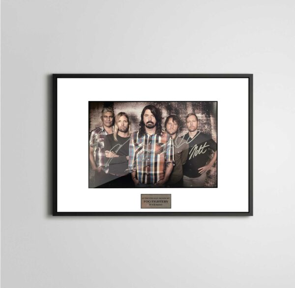 authentically signed foo fighters autograph