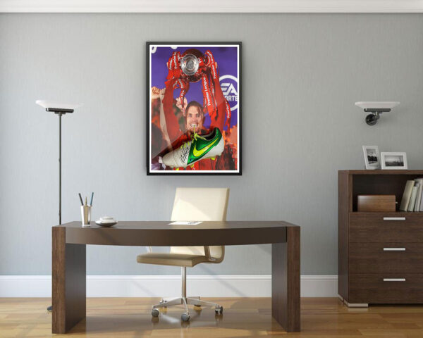 authentically signed jordan henderson liverpool background