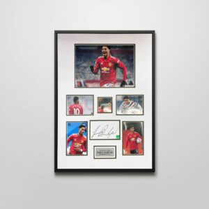 authentically signed marcus-rashford autograph montage