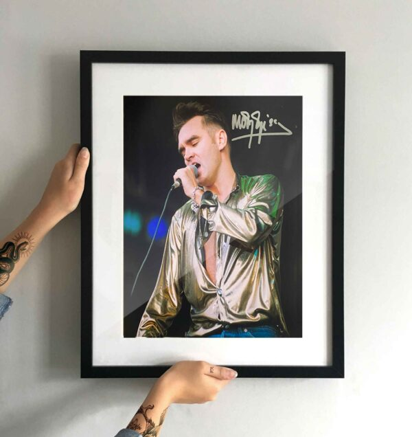 authentically signed morrissey autograph