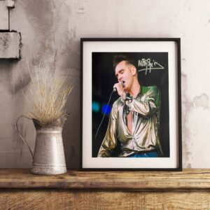 authentically signed morrissey autograph background