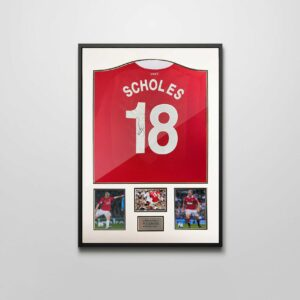 authentically signed paul scholes autograph framed shirt
