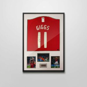 authentically signed ryan giggs autograph framed shirt
