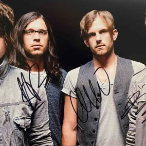 authentically signed kings of leon up close