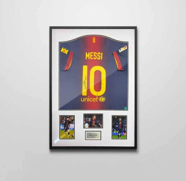 authentically signed lionel messi autograph shirt