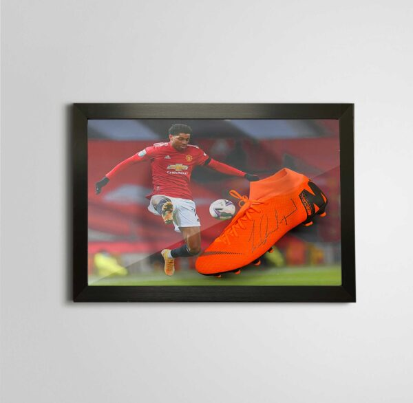 authentically signed rashford boot united autograph