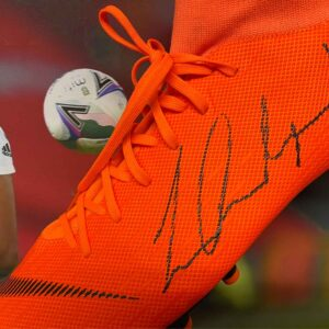 authentically signed rashford boot united up close